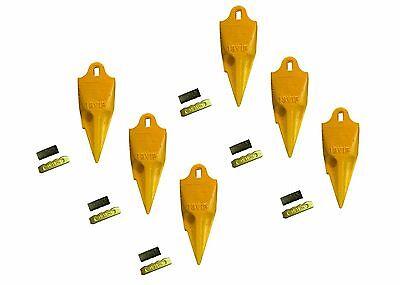 6 - Esco Style 18 Series Mini Excavator Backhoe Bucket Rock Teeth W Pin Kits