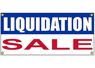 Liquidation Sale Banner Retail Store Shop Business Sign 36  By 15