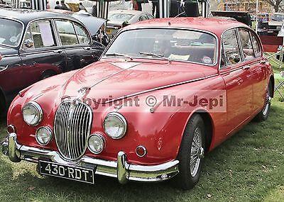 """Jaguar Mark 1  2.4  1955 - 59   2 Photos  6""""  x  4"""""""
