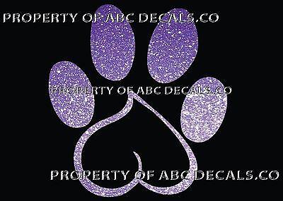 VRS DOG Heart Makes Paw Print Puppy Rescue Adoption CAR DECAL METAL STICKER - Puppy Paw Print