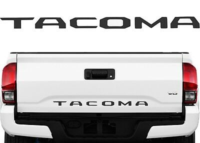 Limited Parts - Matte Black Tailgate Letter Inserts Emblem Badge For 2016-2018 Toyota Tacoma New