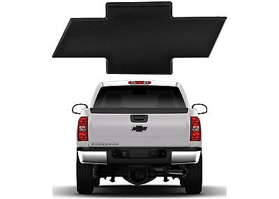- All Sales 96095K 2007-2013 Chevy Silverado Rear Tailgate Black Billet Bowtie New