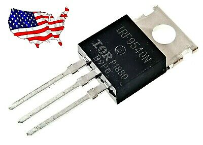 Irf9540n 5 Pcs 23a 100v To-220 Ir P-channel Power Mosfet - From Us