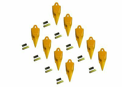 9 - Esco Style 18 Series Mini Excavator Backhoe Bucket Rock Teeth W Pin Kits