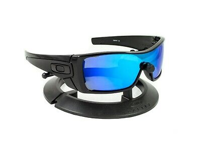 OAKLEY BATWOLF POLISHED BLACK *BLACK ICONS* FRAME / REVANT ICE BLUE CUSTOM LENS