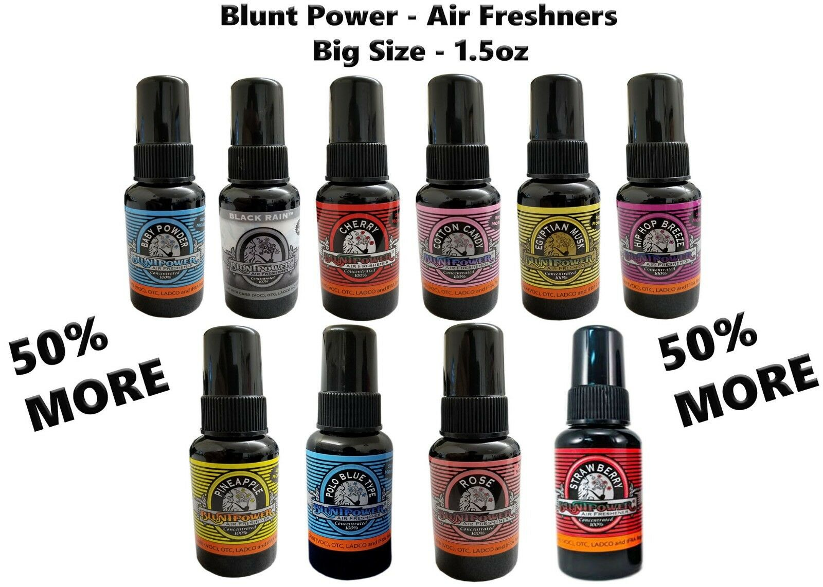 NEW Blunt Power Spray 1.5 oz Air Freshener *2 pack Deal*