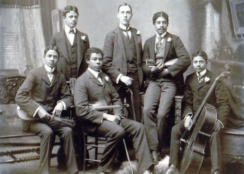 1899 AFRICAN AMERICAN Music Ensemble Group-SUMMIT AVENUE-ATLANTA GEORGIA PHOTO