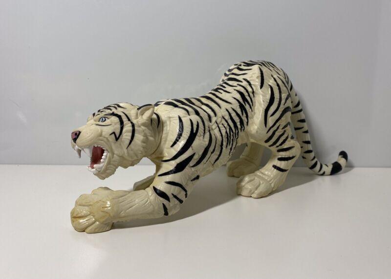 Giant White Tiger Large Hard Plastic Figure 25cm Long!