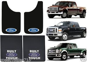 FRONT & REAR FORD LOGO MUD FLAPS DUALLY F350 F450 11x19 18x24