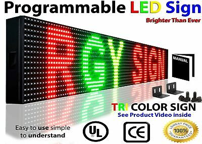 Wifi Tri-color Rgy Programmable Led Sign 6 X 25 Shop Store Scroll Text Display