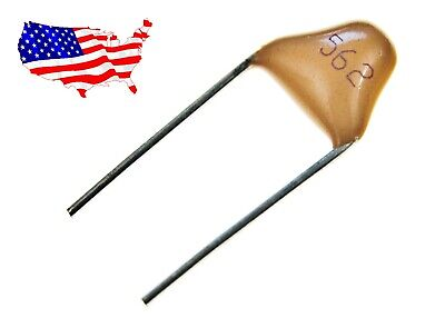 50 V 562 5600 Pf 10 Pcs Ceramic Capacitor - From Usa