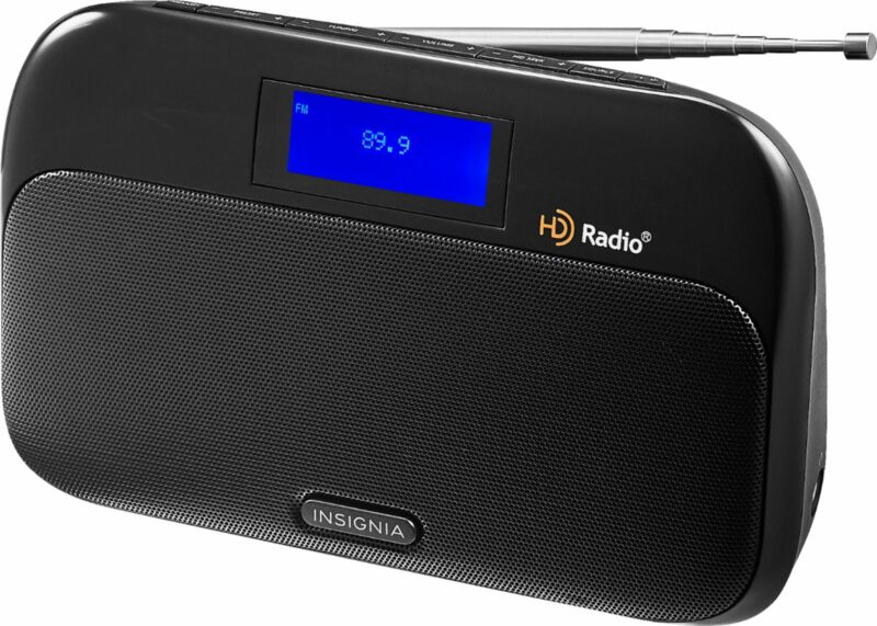 Insignia- Tabletop FM/HD Radio - Black