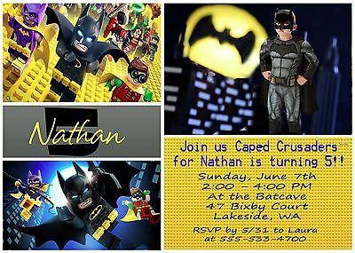 Lego Batman Movie Personalized Birthday Invite and Thank You Card - Batman Lego Invitations