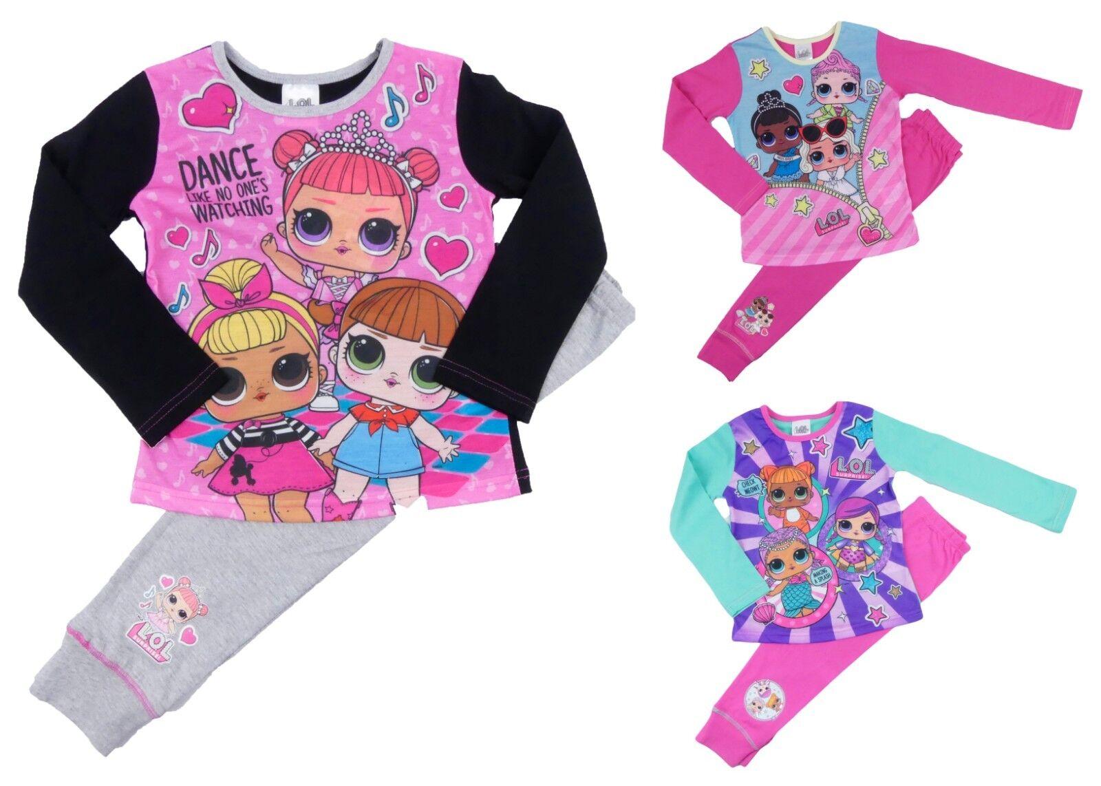 pjs 3-10yrs character nightwear L.O.L Girls LOL SURPRISE pyjamas