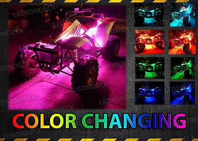 10pc LED Remote Glow Color Changing ATV Quad Lighting LED Kit 66 SMDs w Remote