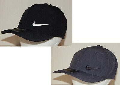 Nike Unisex Classic99 Cap / Hat  Strapback Black / White or Carbon / Black Golf Classic Tweed Hat