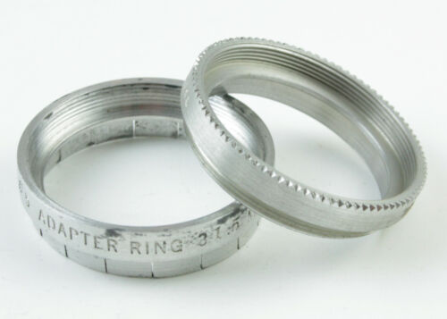 U198816 Tiffen 31.5mm Series V Adjustable Step-Up Adapter w/ Retaining Ring