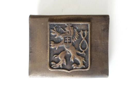 CZECH ARMY WW2 ERA REPRO EQUIPMENT BELT BUCKLE AGED