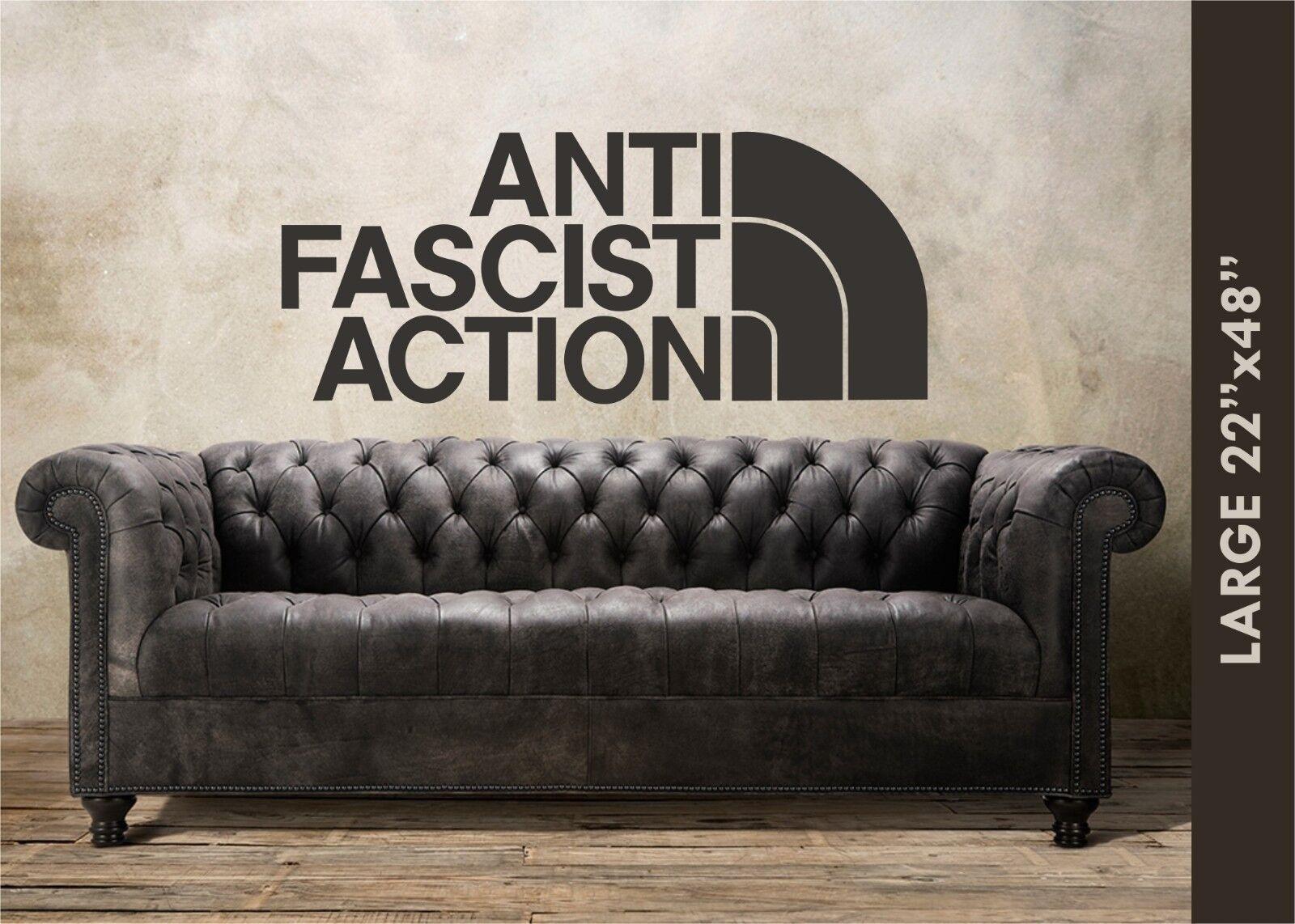 Antifa ANTI-FASCIST ACTION Vinyl  Laptop Decal Buy 1 Get 1 FREE