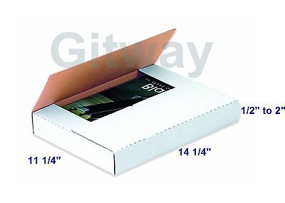 50 Set 14 14 X 11 14 X 2 Multi Depth Cardboard Book Mailer Shipping Box Boxes