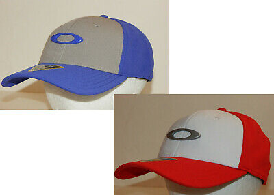Oakley Men's Tincan Hat / Cap NEW Blue/Grey or Red/White  (Red And White Oakleys)