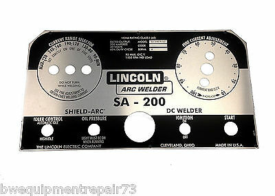 Lincoln Sa-200 Blackface Nameplate L5171 Bw334