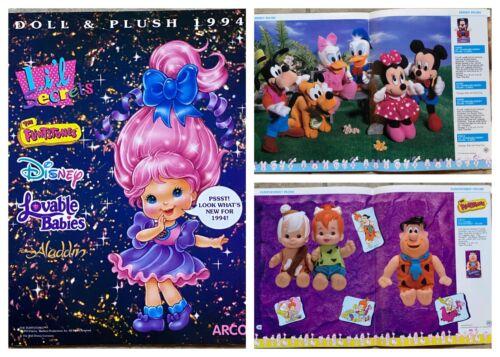 Mattel 1994 Arco Doll & Plush Toy Catalog The Flintstones Disney Rugrats Aladdin