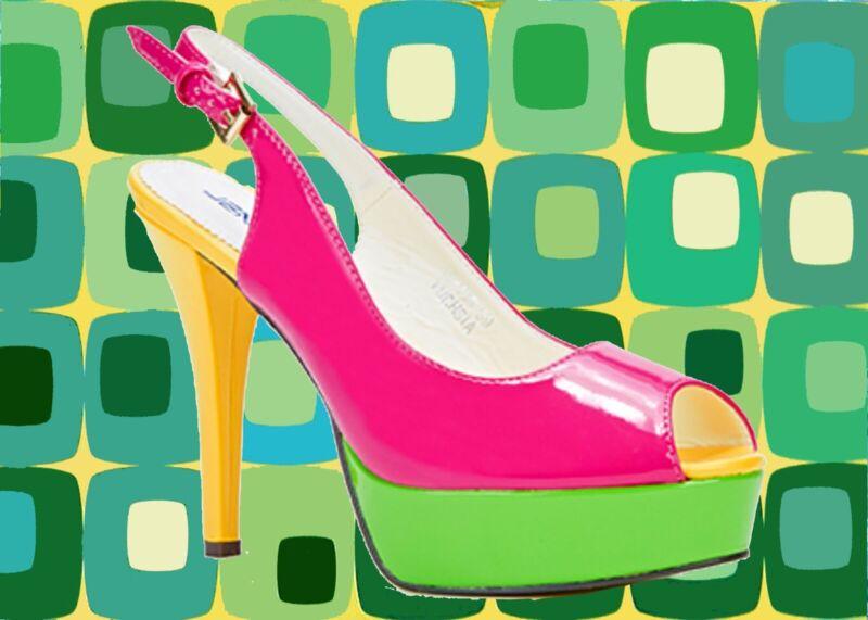 70er Hippie Schuhe 38 S16✪60er Lack Jahre Jahre gelb Gr