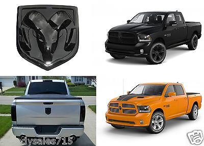 OEM Mopar Black Ram Head Tailgate Emblem For 2009-2018 Dodge RAM New Free - Custom Big Heads