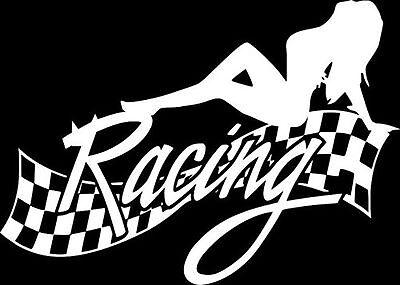 Sexy Lady Racing finish Vinyl Decal Sticker Car Truck Window*buy 2 get 1 free*