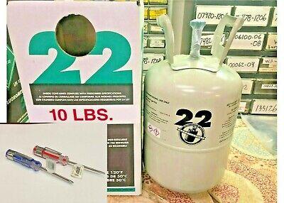 Refrigerant R22 Dot 39 Tank 10 Lb. Sealed Fast  Free Shipping Tool Kit