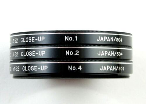 U198331 Prinz 52mm Close-Up Filters +1, +2, +4 w/Case