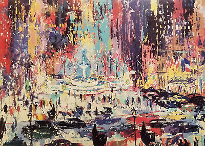 LeROY NEIMAN Post Card - THE PLAZA SQUARE