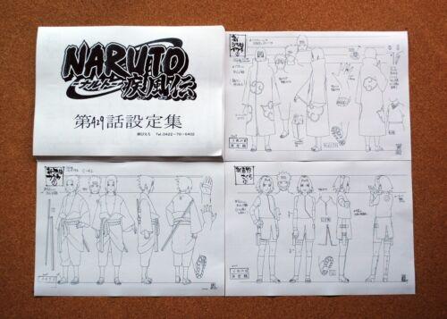 Naruto Shippuden settei sheets