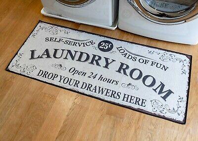 "Grip-Back Woven Printed Rug, Laundry Room Mat Runner - Laundry Room 24"" x 56"""
