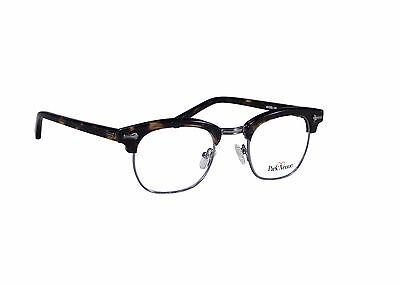 Malcolm X Horn Rimmed Glasses Frames Black Silver Brow-line Vintage Hipster (Horn Rimmed Glasses Frames)