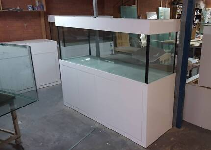 6ftx2ftx2ft Aquarium Glass Fish Tank, White Mordern Style & Hood Moorebank Liverpool Area Preview