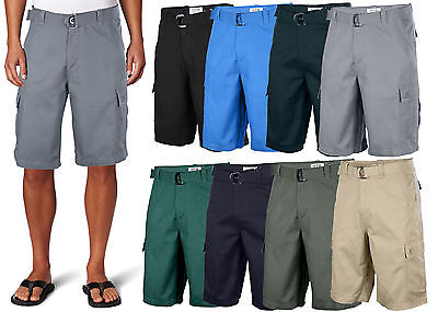 One Tough Brand Mens Classic Cargo Shorts Belted Cotton Multi Colors Size 30 40