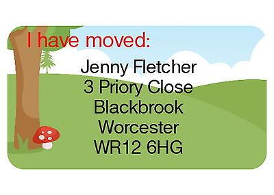 40 PERSONALISED GLOSS CHANGE OF ADDRESS LABELS, COUNTRY SCENE](change of address labels)