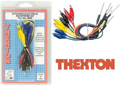 Thexton THE490X Extended Back Probe Kit Color Coded Leads New Free Shipping USA