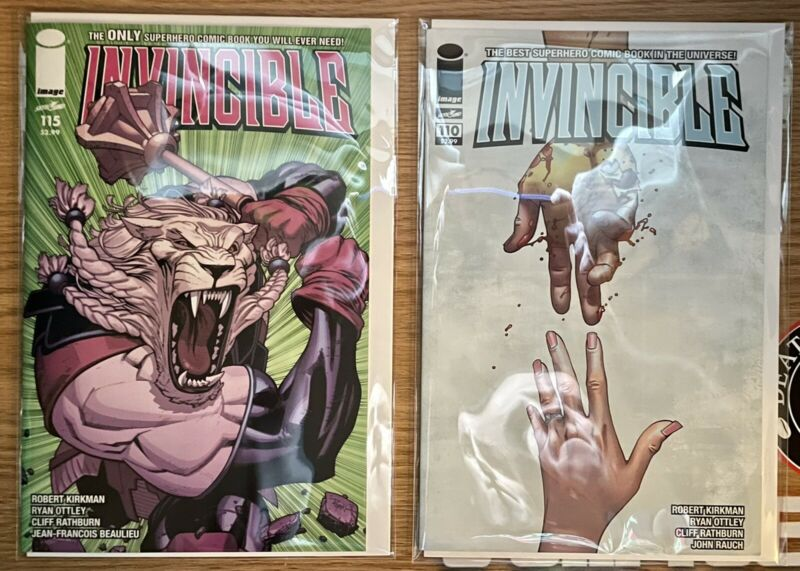 Invincible 110 & 115 Image Comic / Mark Grayson & Battle Beast / Rape Issue