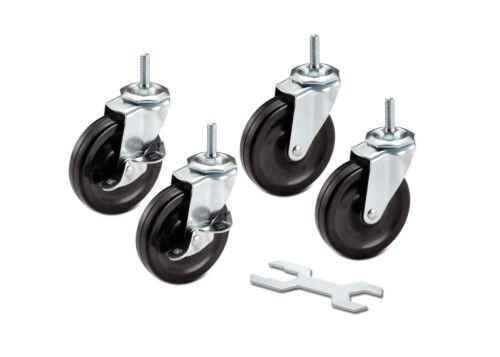 "TRINITY | ZSV-99-018-4010 | 4""x1"" Shelving Rack Casters - Set of (4)"