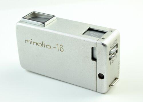U202938 Vintage Minolta-16 16mm Subminiature Camera w/Rokkor f/2.8 22mm Lens