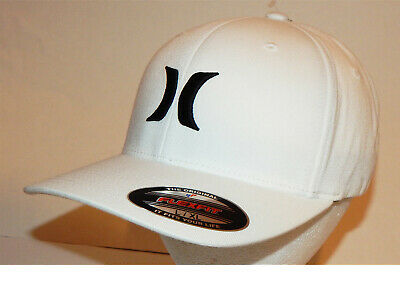 Hurley OAO Cap / Hat L/XL or S/M Flexfit One and Only White / Black 892030 101