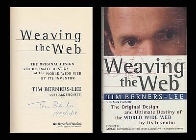 Tim Berners Lee Autographed Signed Book Weaving The Web World Wide Web Www Http