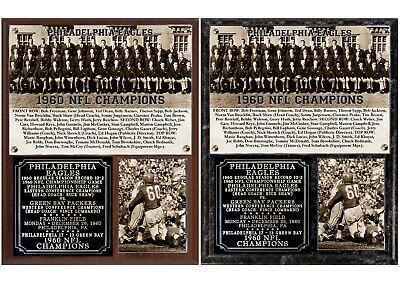 1960 NFL Champion Philadelphia Eagles Photo Plaque ()