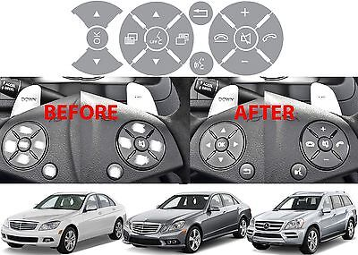 Replacement Grey Steering Wheel Button Stickers Mercedes C Class E Class G Class - Cheap Custom Stickers