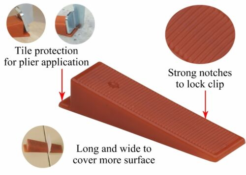Raimondi Leveling System Wedges ~ Packages 250, 500, or 1000 Leveling Wedges ~