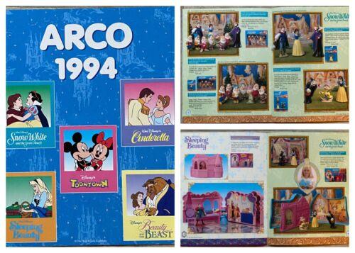 Mattel 1994 Arco Disney Toy Catalog Snow White Cinderella Toontown Beauty Beast