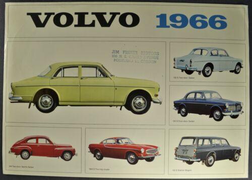 1966 Volvo Brochure Sheet 122S Sedan Wagon 1800S Coupe Excellent Original 66